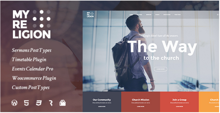 My Religion - Dedicated Church WordPress Theme with Events, Sermons and Donations