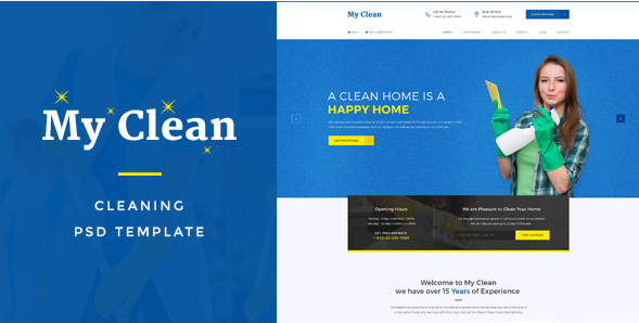MyClean  Cleaning Company PSD Template