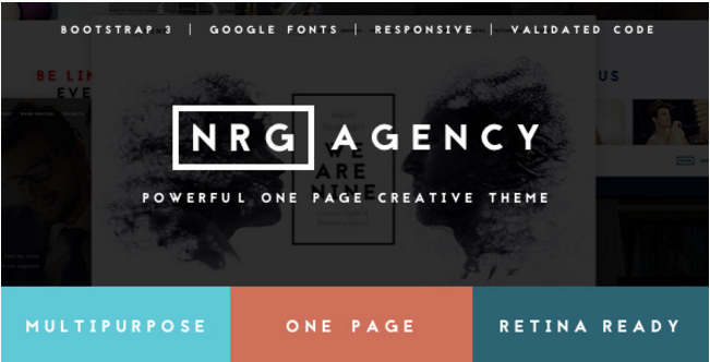 NRGagency - Creative One-Page Agency Theme