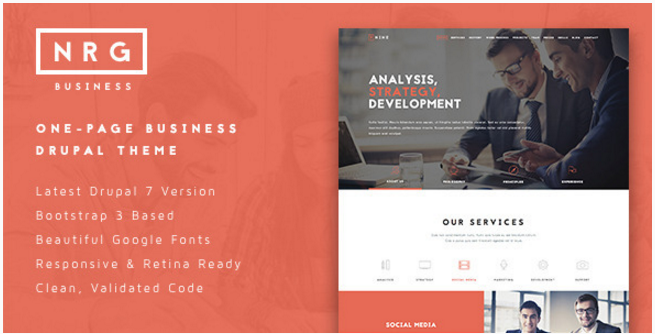 NRGbusiness - Powerful One-Page Business Theme