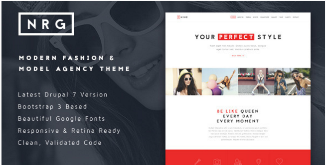 NRGfashion - Modern Model Agency & Fashion Theme