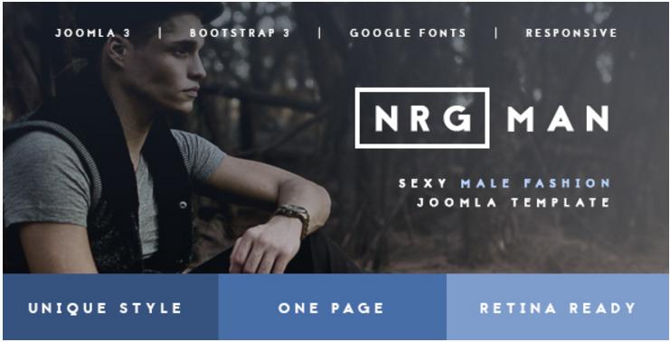 NRGman - Unique Fashion & Model Agency Template