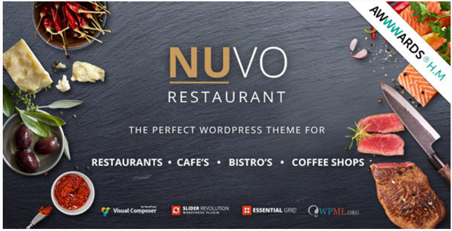 NUVO - Cafe & Restaurant WordPress Theme - Multiple Restaurant & Bistro Demos