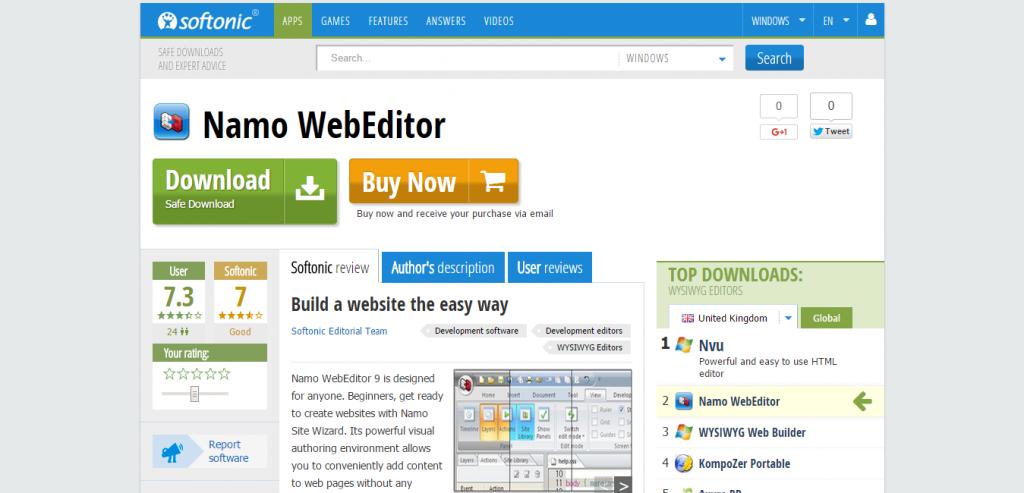 Namo Web Editor 9