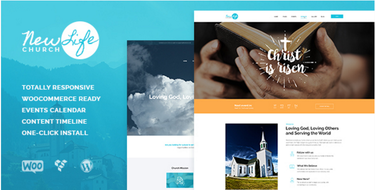 New Life - Church & Religion WordPress Theme