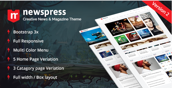 NewsPress - Bootstrap News Magazine Template1
