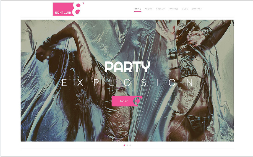 Night Club WordPress Theme