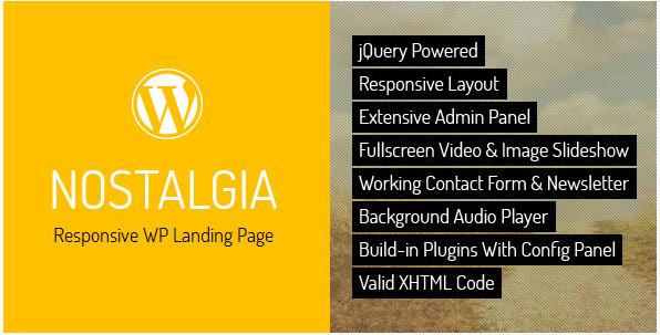 Nostalgia Landing Page WordPress Themes