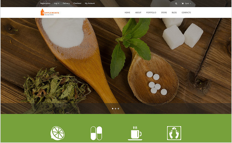 Nutrition Supplements WooCommerce Theme