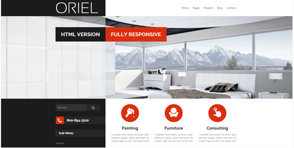 ORIEL - Responsive Interior Design HTML5 Template