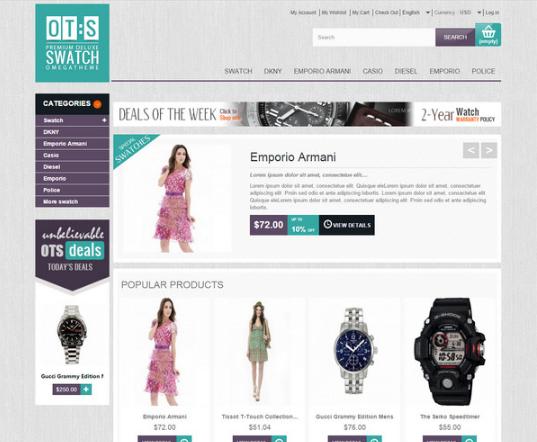 OT Swatch: Cool Prestashop Online Watches Store