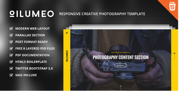 Oilumeo – Responsive Creative Photography Template