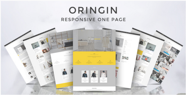 Oringin - Onepage Drupal Theme
