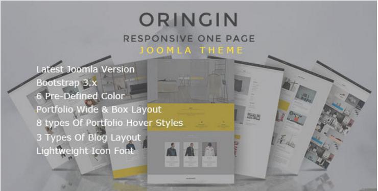 Oringin - Onepage JOOMLA Template