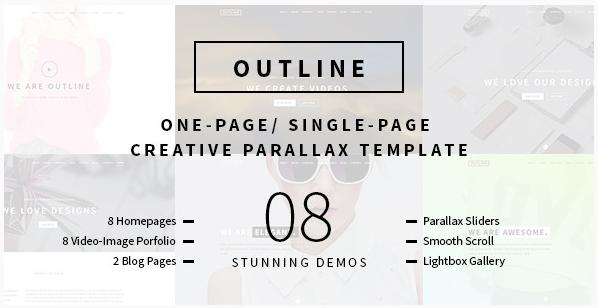 Outline – Creative One Page Single Page Portfolio