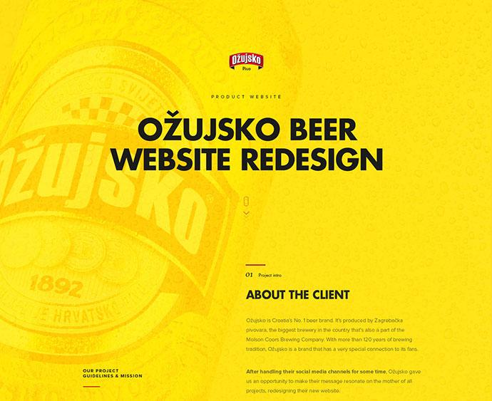 Ozujsko website redesign by Mario Šestak