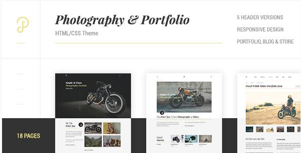 P Dojo - Photography & Portfolio Clean Minimalistic Site Template