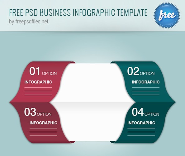 PSD Business Infographic Template