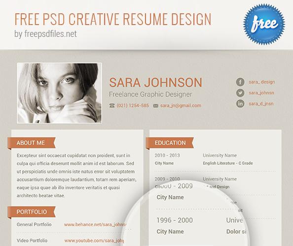 PSD Creative Resume Design