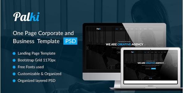 Palki– Creative PSD Landing Page