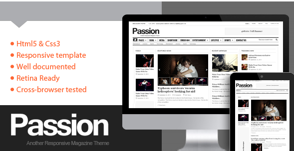Passion- Magazine HTML5 Template