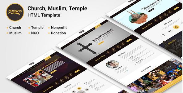 Peace - Church  Muslims Temple HTML Template