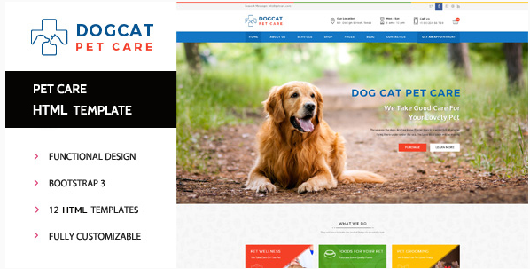 Pet Care - Veterinary HTML Template