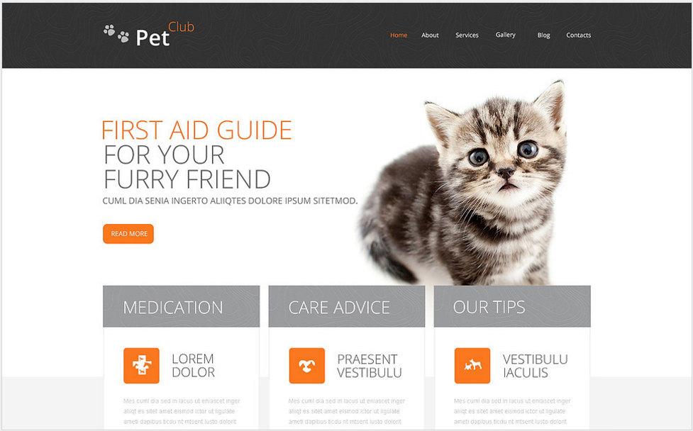 Pet Club Drupal Template