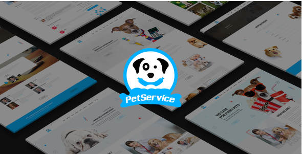 Pet Service - A Pet Services PSD Template