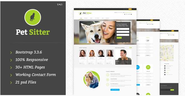 PetSitter - Responsive HTML5CSS3 Template