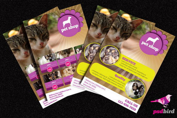 Pets and Animals Shop Brochure PSD
