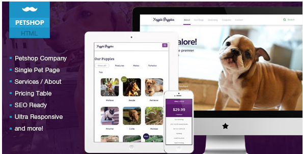 Petshop - Responsive Pet Friendly Theme
