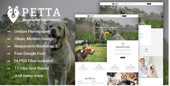 Best Pet and Animals PSD Templates