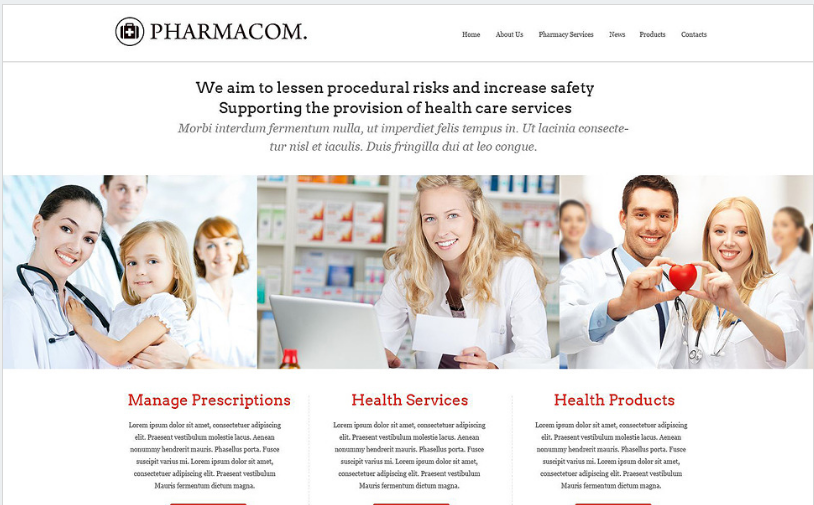 Pharmacy Website Template