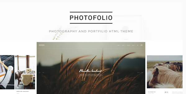 Photofolio - Photography & Portfolio HTML Template