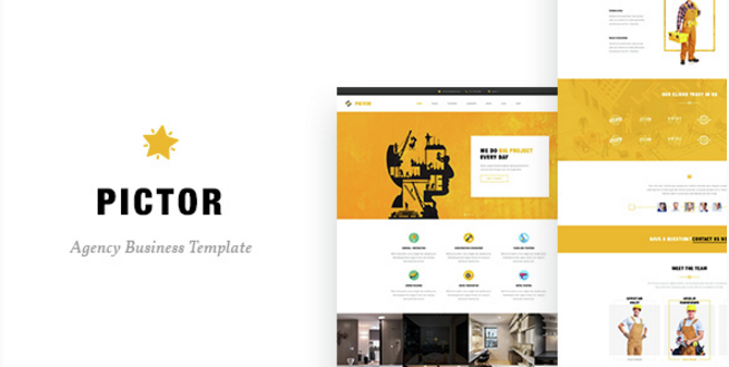 Pictor - Drupal Construction, Building Business template