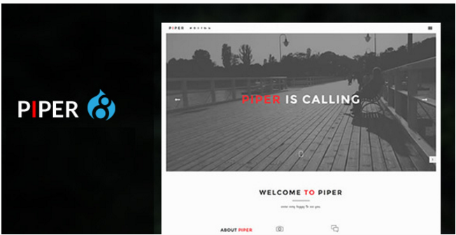 Piper - Creative Modern & Flexible Responsive Drupal Theme