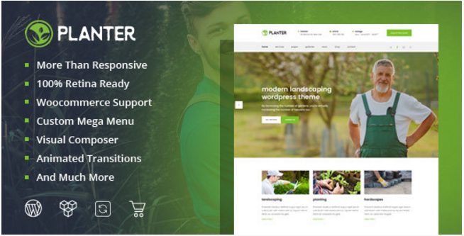 Planter - Landscaping & Agriculture WordPress Themes