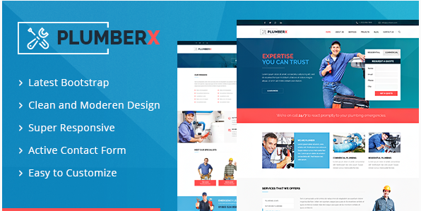 Plumberx - Plumber and Construction HTML Template