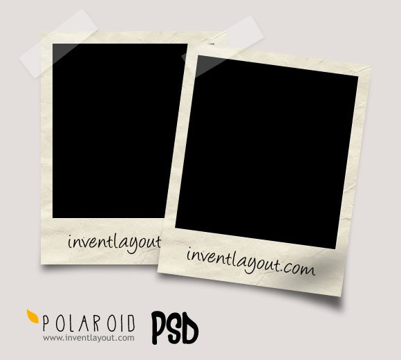 Polaroid PSD Photo Frame Mockup