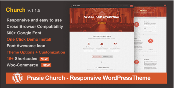 Praise Church - Responsive WordPress Theme