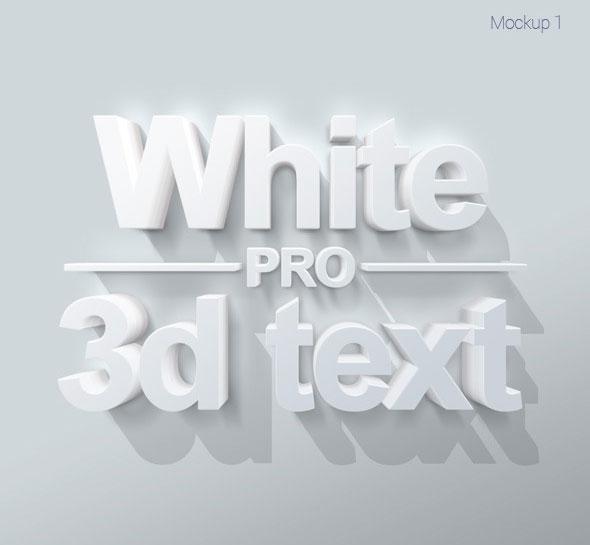 Pro 3D Text Mockups V1
