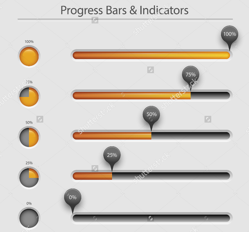 Progress Bar on Clean Background