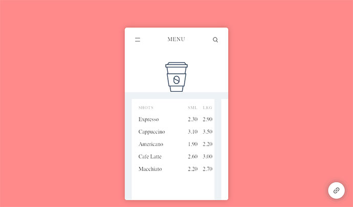 Pure CSS – Menu App