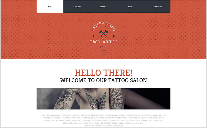 Quality Tattoo Artistry WordPress Theme