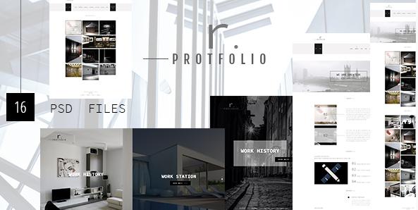 R.PROTFOLIO - Creative Personal Company Portfolio template