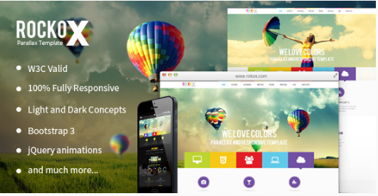 ROCK HTML5 One Page Website Templates