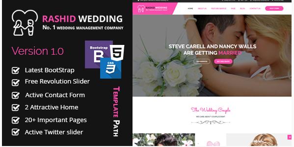 Rashid Wedding - Wedding and Wedding Event Planner HTML Template