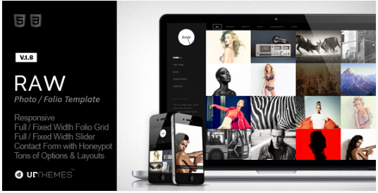 Raw - Responsive Photography WordPress Theme