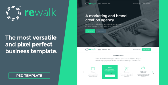 ReWalk Business - Business PSD Template
